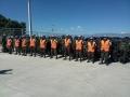 Entre filas contingente Guatemala