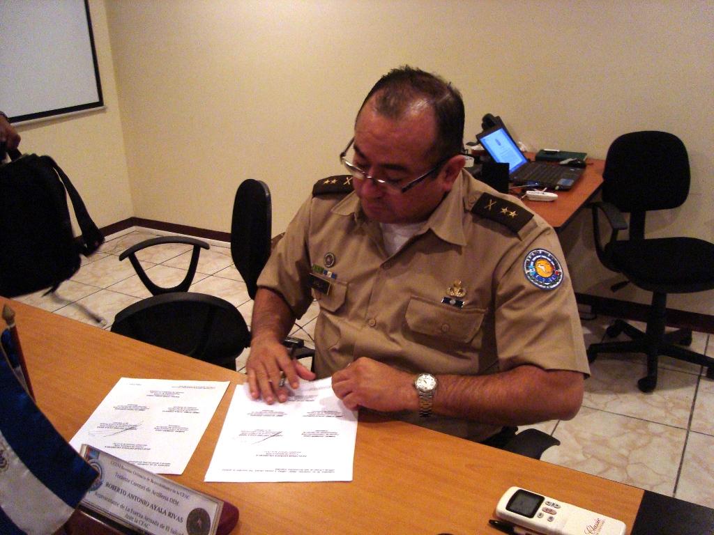 Firma del Acta El Salvador