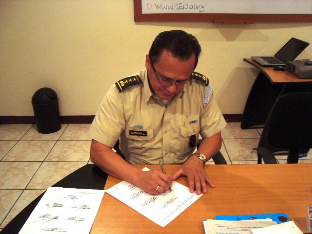 Firma del Acta Guatemala