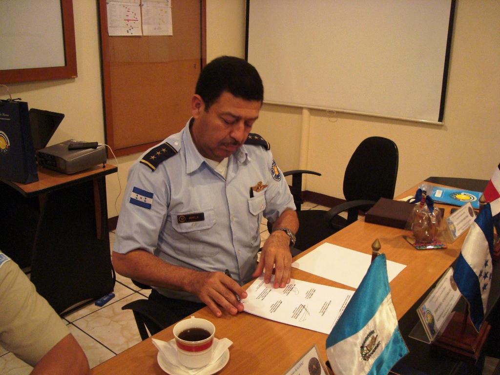 Firma del Acta Honduras