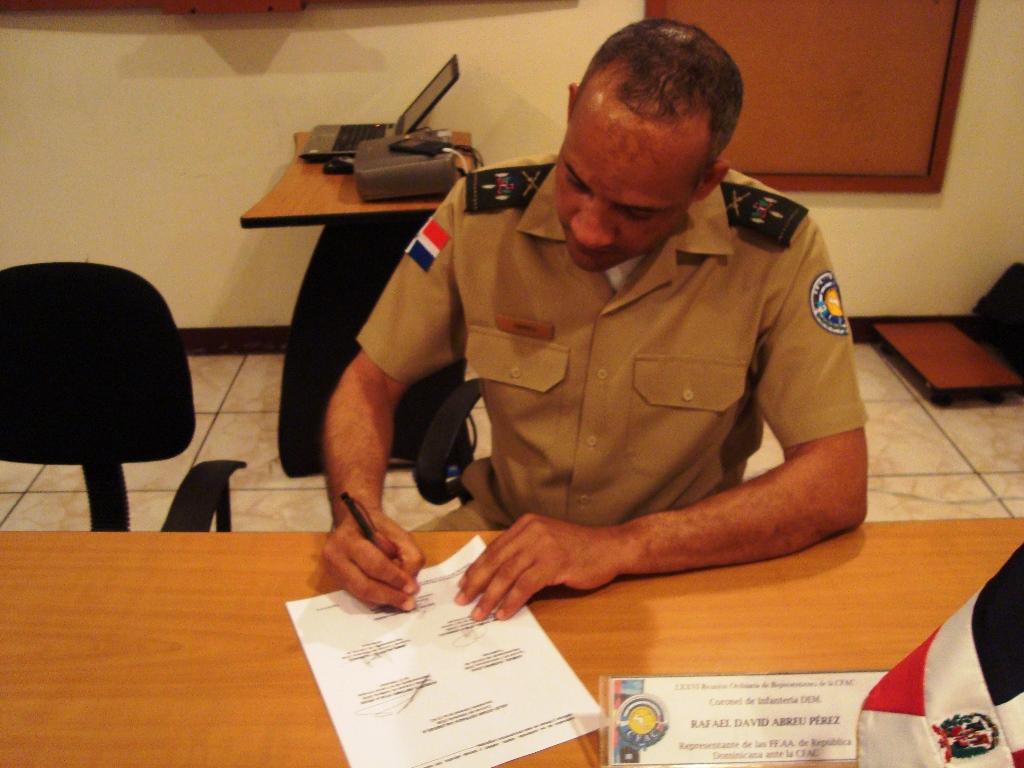 Firma del Acta Republica Dominicana